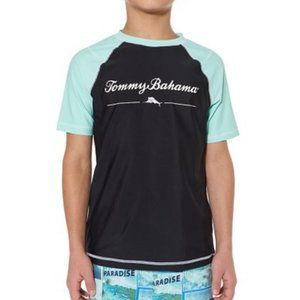NWT Tommy Bahama Rashguard Boys Swim Top S UPF 50